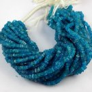 "1 Strand Natural Neon Apatite Smooth 4-5mm Heishi Drilled Stone Beads 16"" Long"