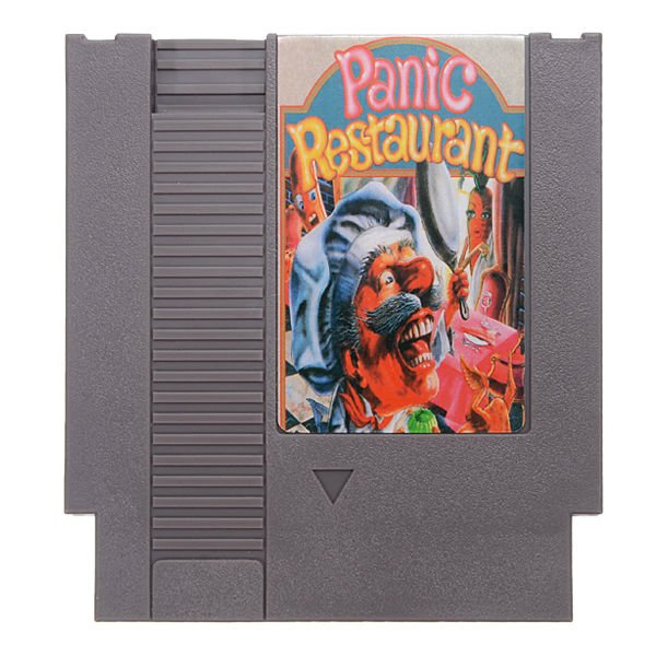 Panic Restaurant 72 Pin 8 Bit Game Card Cartridge for NES Nintendo