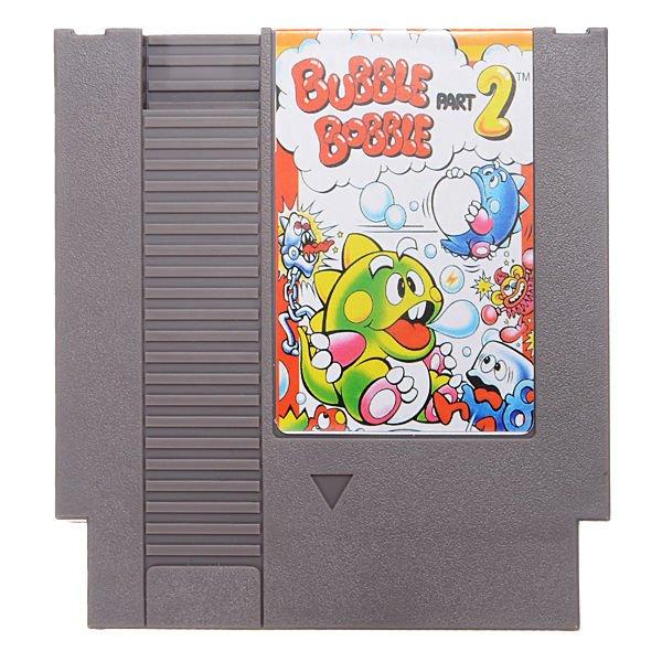 Bubble Bobble Part 2 Super Game Nintendo NES 8 Bit Cartridge 72 Pin Ntsc Pal