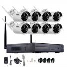 Security Camera - Hiseeu 1080P Wireless CCTV 8CH NVR Kit Outdoor IR