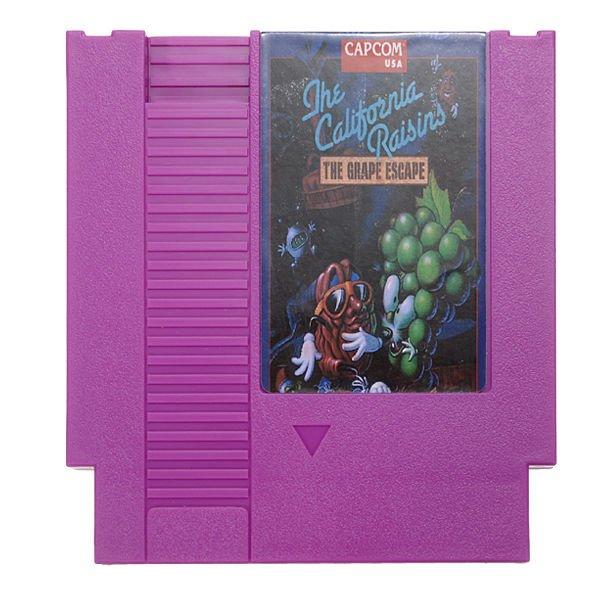 The California Raisins The Grape Escape 72 Pin 8 Bit Game Card Cartridge for NES