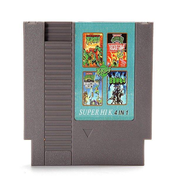4 in 1 8 Bit 72 Pin Game Cartridge Teenage Mutant Ninja Turtles for NES Nintendo