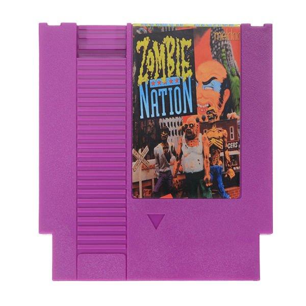 Zombie Nation 72 Pin 8 Bit Game Card Cartridge for NES Nintendo