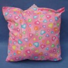 Pink Hearts Travel Pillow New with Tag