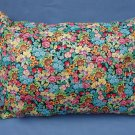 Small Colorful Flowers Travel Pillow New with Tag