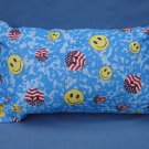 Patriotic Smiley Face Travel Pillow New with Tag