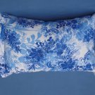 Light and Dark Blue Floral Travel Pillow New with Tag