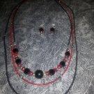 Midnight & Rubies Necklace Set