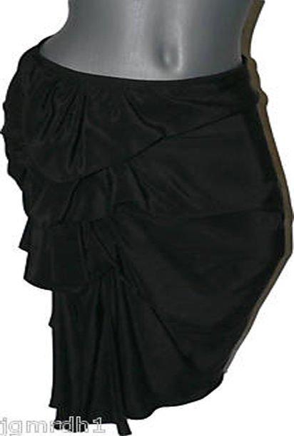 NEW VERA WANG Silk Runway skirt bubble black 36 2 ruffle see pics couture design