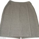 NWT ST. JOHN Collection skirt woven career 8 $895 designer luxury designer