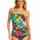 NWT MAGICSUIT by MIRACLESUIT 10 bandeau tankini top and bottom nirvana strapless