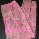 NWT RALPH LAUREN Black Label silk paisley pants slacks cropped capris $758 8