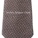New BVLGARI Italy 100% SILK tie necktie woven luxury 7 fold brown multi mens