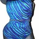 NWT GOTTEX designer swimsuit 14 Madagascar tummy control cobalt black slimming