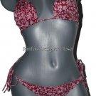 NWT MARC JACOBS bikini swimsuit designer triangle slide L new 2 pc maroon