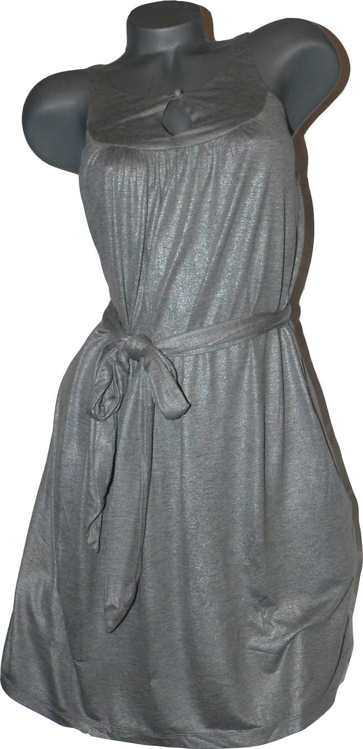 NEW SUSANA MONACO high-end designer slinky shimmery dress silver gray XS 0 2 4