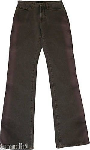 NWT ROBERTO JUST CAVALLI blue jeans denim pants 27 X 33 charcoal with pink rose