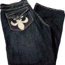 NWT LAGUNA BEACH Santa Monica Jeans leather skull 42 X 35 boot cut designer