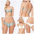 NWT L SPACE XS swimsuit bikini 2PC seaglass reversible strappy skimpy bottom