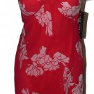 NWT MARY BAYS by Victoria Royal dress 12 strapless red floral 100% silk cocktail