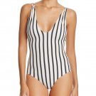 NWT TORI PRAVER Elena M 1 Piece Swimsuit Sunday Stripe Maillot cheeky bottom