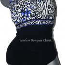NWT GOTTEX swimsuit  tummy control 6 black royal blue white slimming Israel
