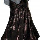 NWT LAROK Dress metallic brown shimmery runway designer tunic Kelly S