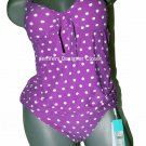 NWT Anthropologie SEAFOLLY Australia US-8 Retro polka dot tankini swimsuit