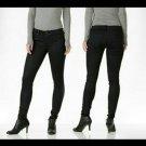 NWT DYLAN GEORGE 26 coated denim black skinny jeans stretch designer ankle