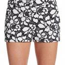 NWT DIANE von FURSTENBERG 12 $245 lace shorts black white embroidered napoli