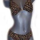 NWT GOTTEX 8 swimsuit bikini exotic bamboo rings underwire 2pc designer Israel