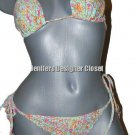 NEW OndadeMar 3PC bikini swimsuit aqua orange hot pink lime floral 6, 8 10 lot