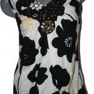 NEW PRAIRIE New York silk top tunic jewelled tank S designer sleeveless bling