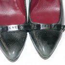 NEW COSTUME NATIONAL patent leather pumps heels shoes $754 37 charcoal designer