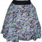 NWT ANNA MOLINARI of Blumarine silk career skirt runway $550 40 multi color