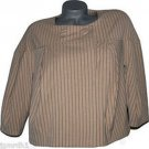 NWT VERTIGO PARIS Cape Swing Coat Jacket career M $240 Bubble tan striped