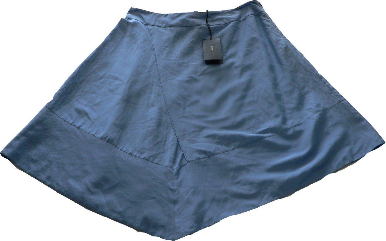 NWT HUGO BOSS skirt 8  Cotton and Silk blend lined ice blue handkerchief hem