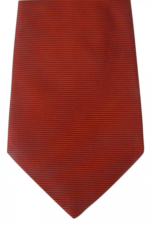 NEW ETRO silk suit tie necktie classic rust Milan Italy textured designer