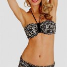 NWT BADGLEY MISCHKA 6 swimsuit skirted bikini adjustable coverage bottom bandeau
