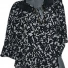 NWT LaROK Shabbona S XS Caftan tunic top Kimono sleeve flowy airy tunic chiffon