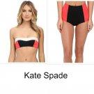 NWT KATE SPADE swimsuit XS bikini 2PC bralette & high waist bottoms Parrot Cay