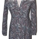 NWT LA VIA 18 Lavia 40 paisley dress above knee multi color Italy $495 button up