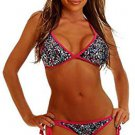 NWT DAISY BEACHWEAR M confetti sequin pucker-back bikini swimsuit 2PC sexy side