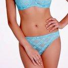 NWT AUBADE Paris XS Thong Panty Stretch Lace Aqua $79