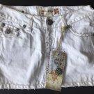 NWT LAGUNA BEACH JEANS Co. 25 Denim White Mini Skirt designer short denim