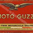 Vintage Garage Moto Guzzi, 121, Italian Motorcyles V-twin, Medium Metal/Tin Sign