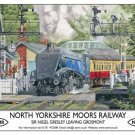 Sir Nigel Gresley, Steam Train 60007, NYMR Railway Small Metal/Tin Sign, Picture