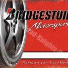 Vintage Garage Bridgestone Tyres, 59, Motorsport Racing, Small Metal/Tin Sign