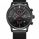 MEGIR Fashion Mens Stainless Steel Mesh Band Business Luminous Chronograph Quartz Wrist Watches