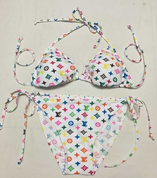 Custom lv bikini - colorful